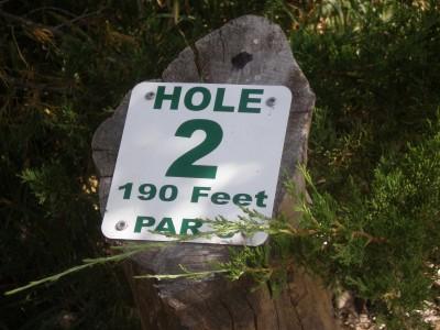 Centennial Park, Main course, Hole 2 Hole sign