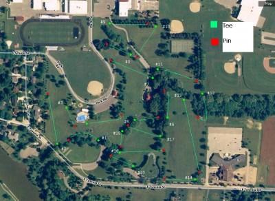 Memorial Park, Main course, Hole 1