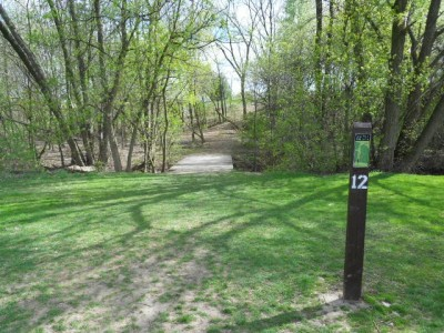 Memorial Park, Main course, Hole 12 Tee pad
