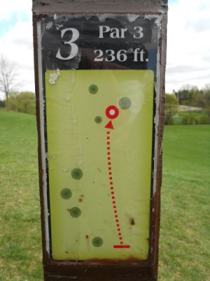 Memorial Park, Main course, Hole 3 Hole sign