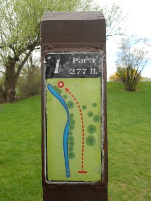 Memorial Park, Main course, Hole 1 Hole sign