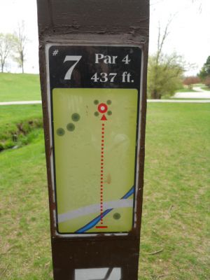 Memorial Park, Main course, Hole 7 Hole sign