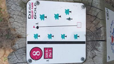 Kelley Park, Main course, Hole 8 Hole sign