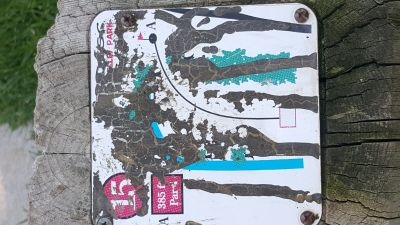 Kelley Park, Main course, Hole 15 Hole sign