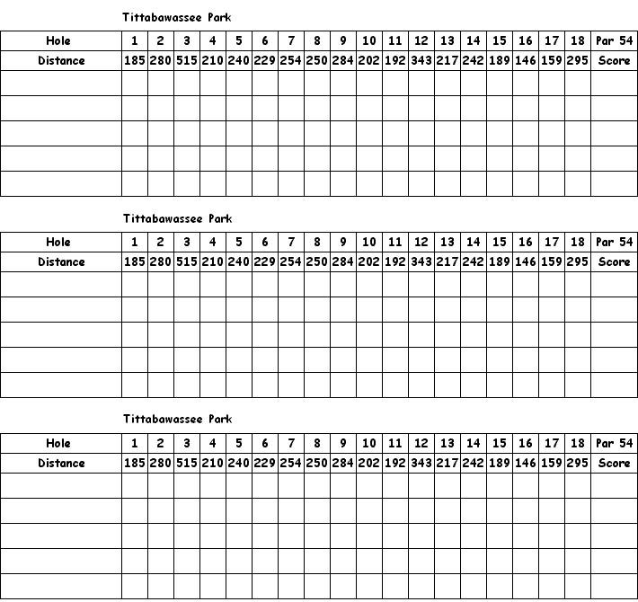 graphic regarding Disc Golf Scorecard Printable identified as Gap 1 Tittabawee Park (Freeland, MI) Disc Golfing