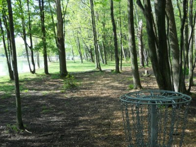 Tittabawassee Park, Main course, Hole 2 Reverse (back up the fairway)
