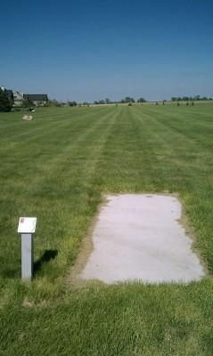 Deer Run Park, Main course, Hole 5 Tee pad