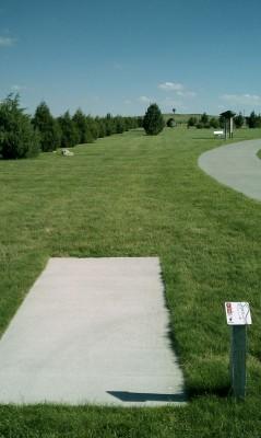 Deer Run Park, Main course, Hole 9 Tee pad