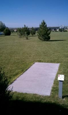 Deer Run Park, Main course, Hole 1 Tee pad