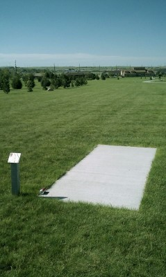 Deer Run Park, Main course, Hole 2 Tee pad