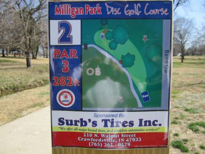 Milligan Park, Main course, Hole 2 Tee pad