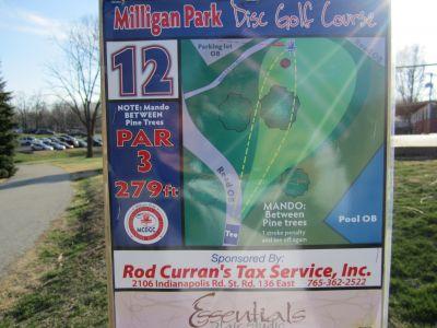 Milligan Park, Main course, Hole 12 Tee pad