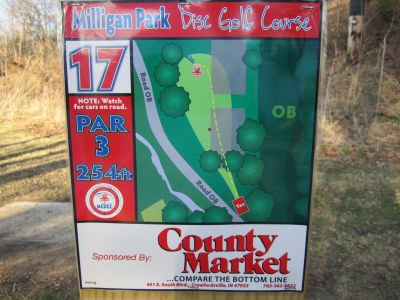 Milligan Park, Main course, Hole 17 Tee pad