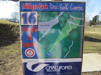 Milligan Park, Main course, Hole 16 Tee pad