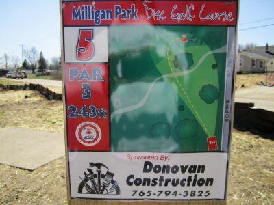 Milligan Park, Main course, Hole 5 Tee pad