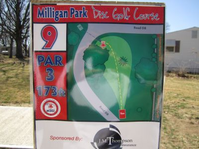 Milligan Park, Main course, Hole 9 Tee pad