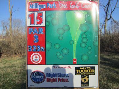Milligan Park, Main course, Hole 15 Tee pad