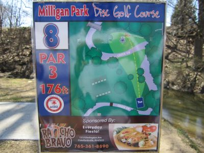 Milligan Park, Main course, Hole 8 Tee pad