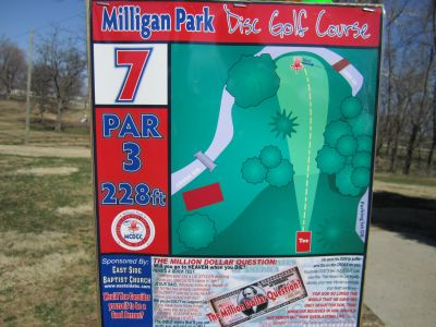 Milligan Park, Main course, Hole 7 Tee pad
