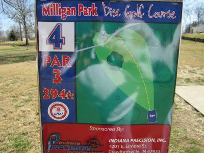 Milligan Park, Main course, Hole 4 Tee pad