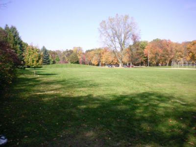 Fitzgerald Park, Main course, Hole 18 Tee pad