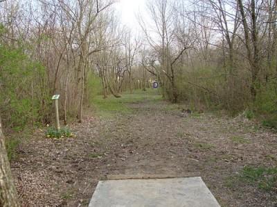 Lemon Lake County Park, Blue, Hole 18 Tee pad