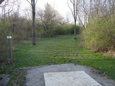 Lemon Lake County Park, Blue, Hole 16 Tee pad