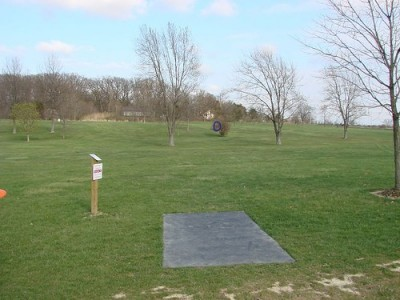 Lemon Lake County Park, Blue, Hole 4 Tee pad