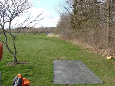 Lemon Lake County Park, Blue, Hole 7 Tee pad