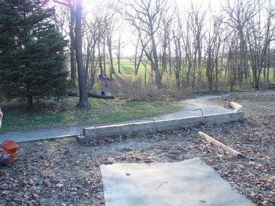 Lemon Lake County Park, Blue, Hole 14 Tee pad