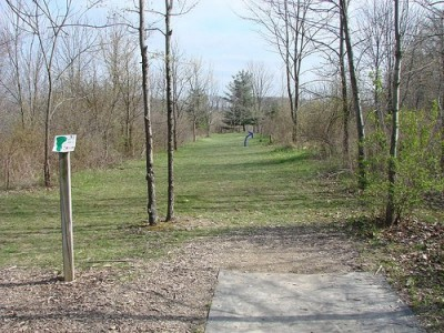 Lemon Lake County Park, Red, Hole 13 Tee pad