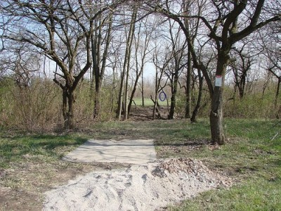 Lemon Lake County Park, Red, Hole 9 Tee pad