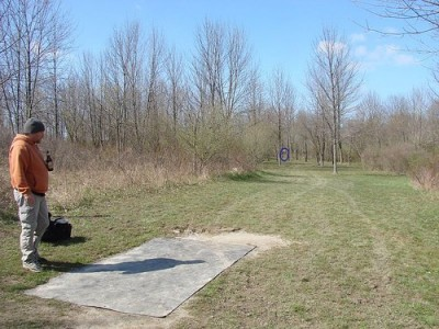 Lemon Lake County Park, Red, Hole 5 Tee pad