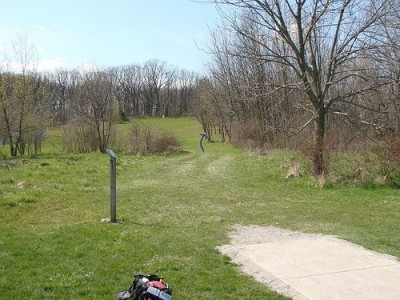 Lemon Lake County Park, Red, Hole 2 Tee pad