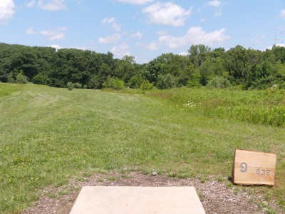 Lemon Lake County Park, Silver, Hole 9 Tee pad