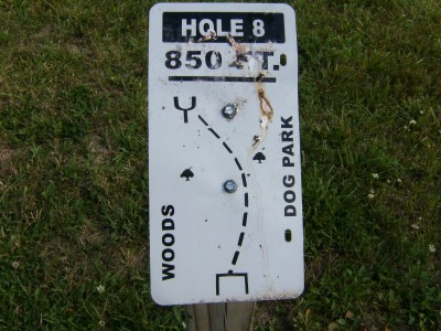 Lemon Lake County Park, Silver, Hole 8 Tee pad