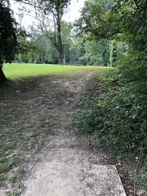 Mesker Park, Main course, Hole 1 Long tee pad