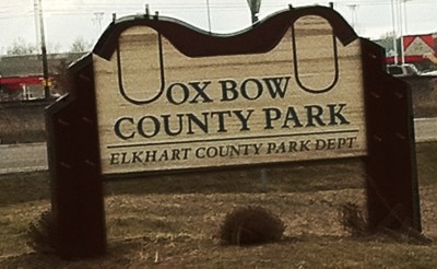 Ox Bow County Park, Main course, Hole 2 Hole sign