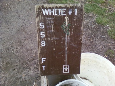 Earl W. Brewer Park, White course, Hole 1 Hole sign