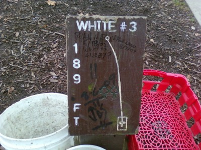 Earl W. Brewer Park, White course, Hole 3 Hole sign