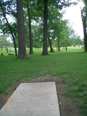 McCulloch, Main course, Hole 1 Tee pad