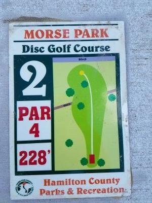 Morse Beach Park, Main course, Hole 2 Hole sign