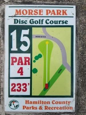 Morse Beach Park, Main course, Hole 15 Hole sign