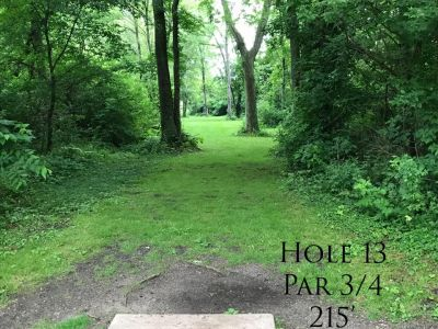 Ferrettie Baugo Creek County Park, Main course, Hole 13 Tee pad