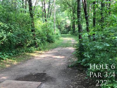 Ferrettie Baugo Creek County Park, Main course, Hole 6 Tee pad