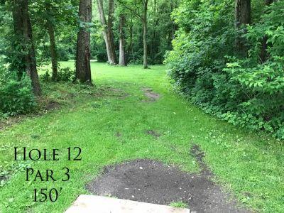 Ferrettie Baugo Creek County Park, Main course, Hole 12 Tee pad
