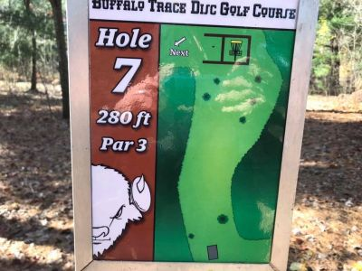Buffalo Trace Park, Main course, Hole 7 Hole sign