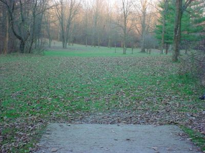Mississinewa State Park, Main course, Hole 11 Tee pad