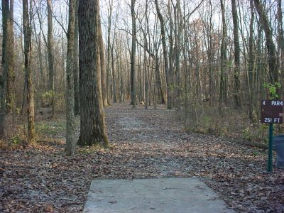 Mississinewa State Park, Main course, Hole 4 Tee pad
