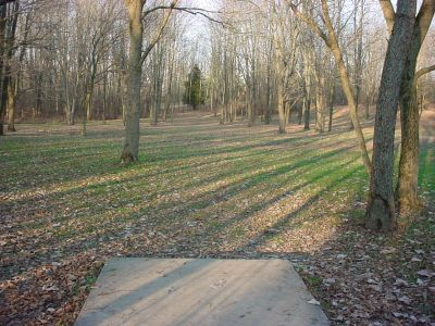 Mississinewa State Park, Main course, Hole 6 Tee pad